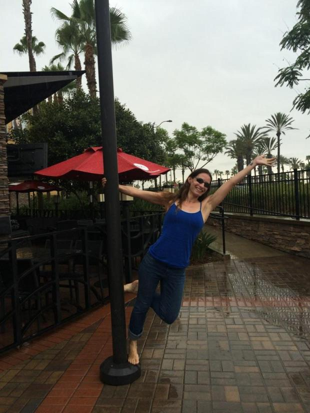 Channeling my favorite dancer in the rain