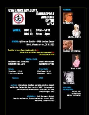 DanceSport Academy of the West Dec2017 Dance Camp Flyer